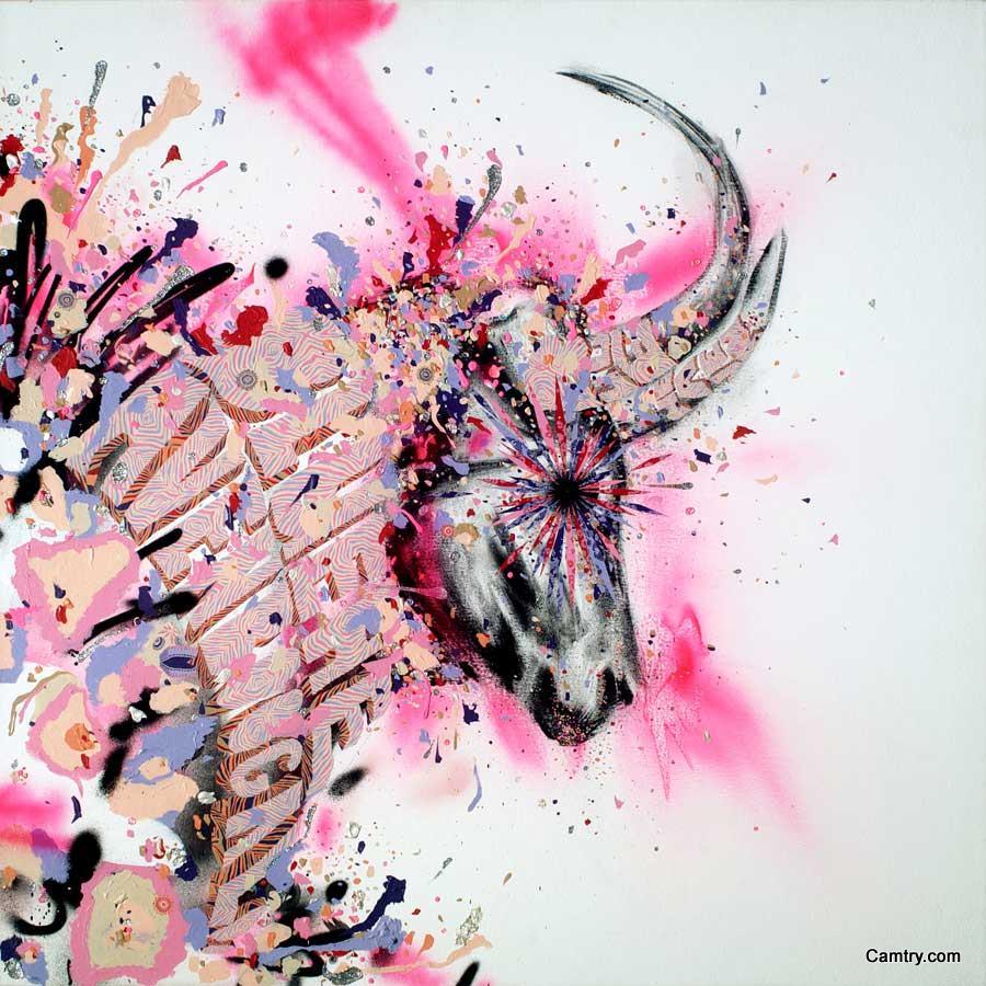 粉红的动物图案设计欣赏_自然与艺术